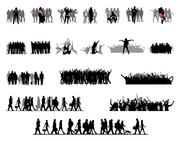 Crowd Silhouettes Set Preview