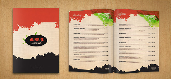 Restaurant menu psd template free psd files for Cafe menu design template free download