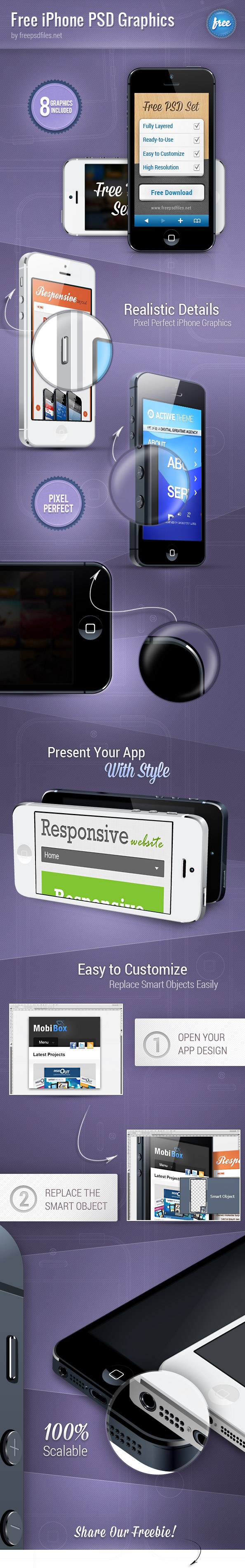 iPhone PSD Graphics Preview