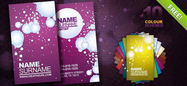 Artist Business Card PSD Template