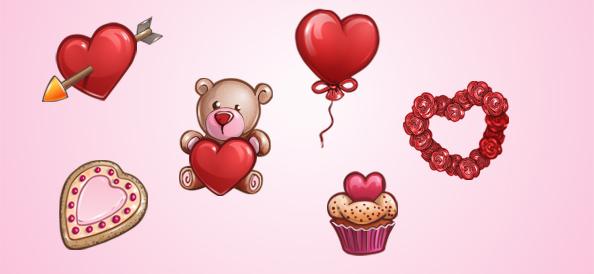 Valentine Free PSD Set 1