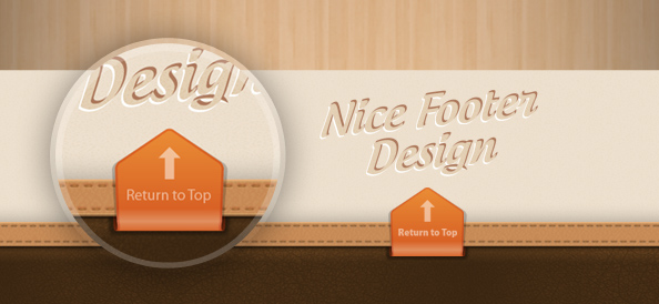 Stylish Footer Free PSD Template