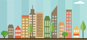 Free PSD Flat City Design