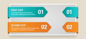 Free PSD Infographic Arrows