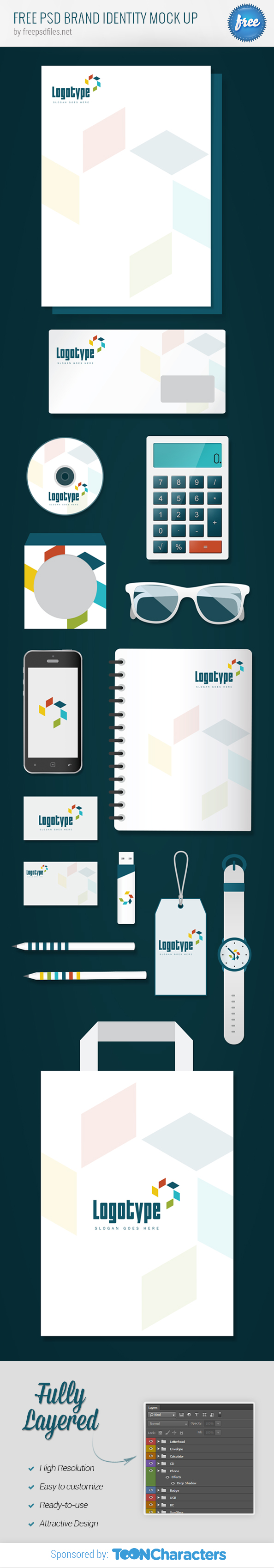 FREE PSD Brand Identity Mock up
