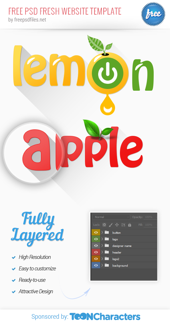 free apple and lemon logo templates free psd files
