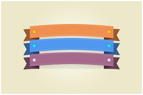 psd ribbons