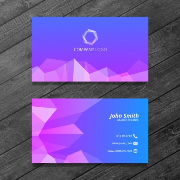 polygonal-business-card