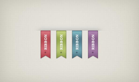 psd ribbons