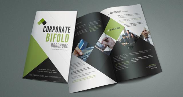 12 Attention Grabbing Bi-Fold Brochure Free PSD Templates - double fold brochure