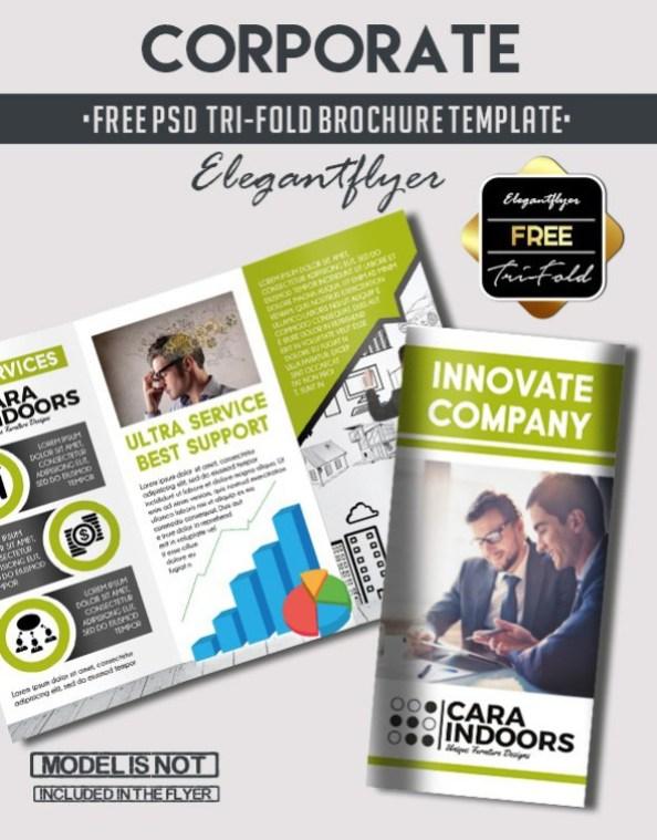 TriFold Brochure Free PSD Templates Grab Edit Print - Brochure template psd
