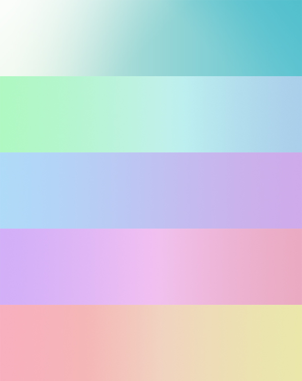 5 gradient backgrounds