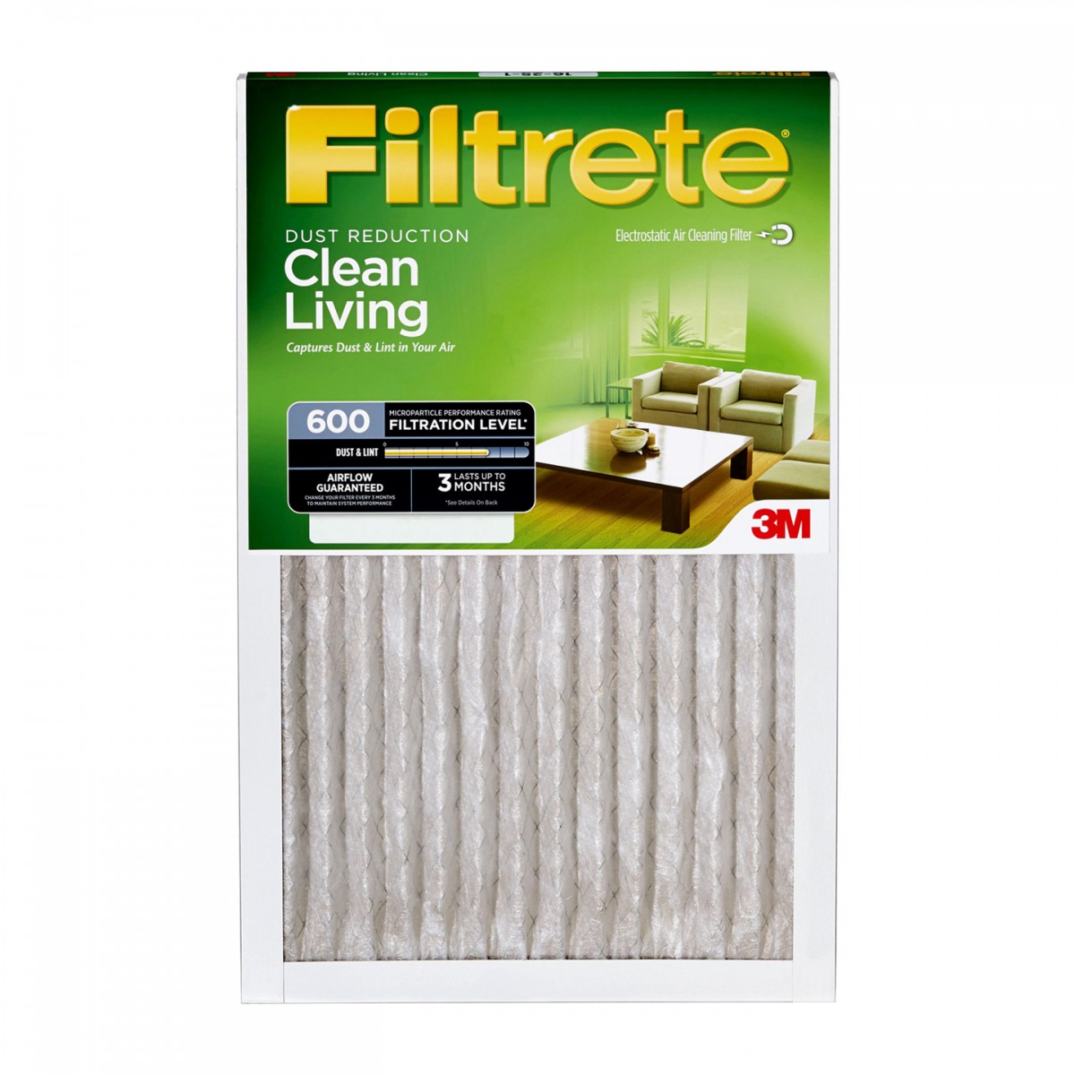 Filtrete 16x25x1 16x25x1 Filtrete 600 Dust And Pollen Air Filter By 3m