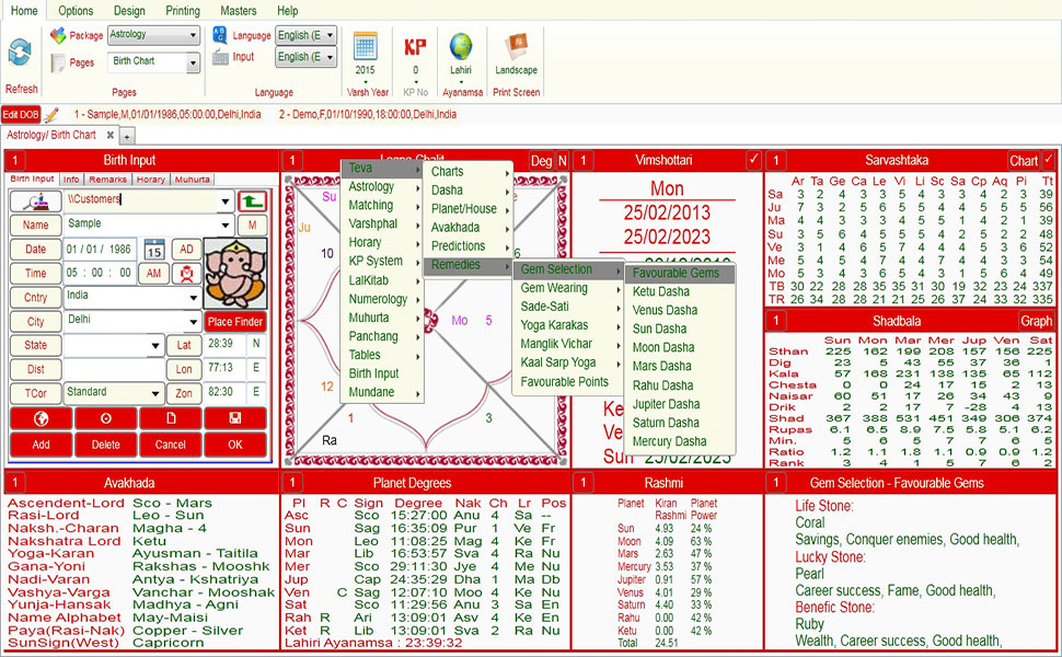 Astrology software Leostar Numerology Precise  Accurate Astro - numerology chart template