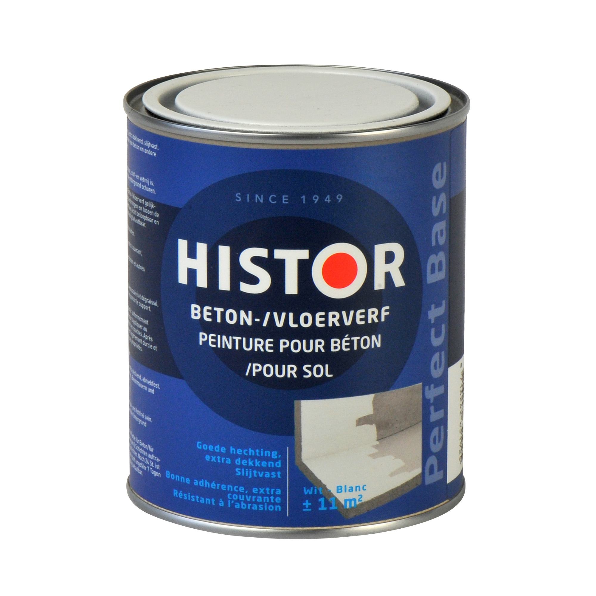Histor Verf Gamma Histor Perfect Base Betonverf Wit 750 Ml Speciaalverf