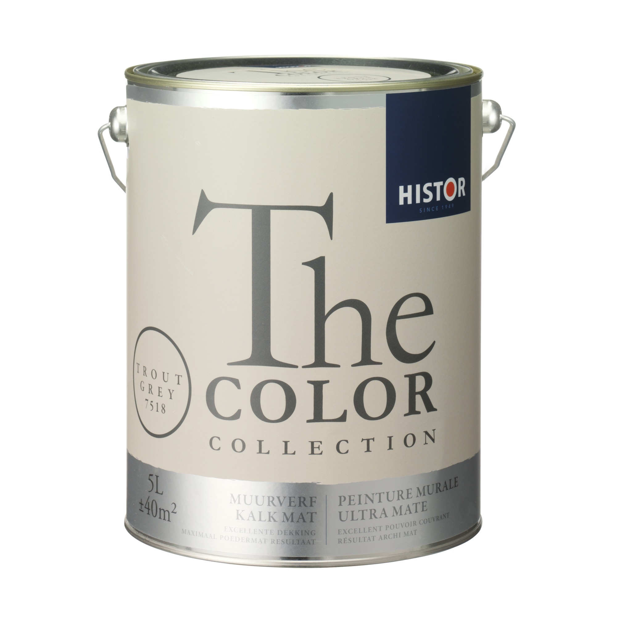 Kleur Forel Histor Histor The Color Collection Muurverf Trout Grey 5 Liter