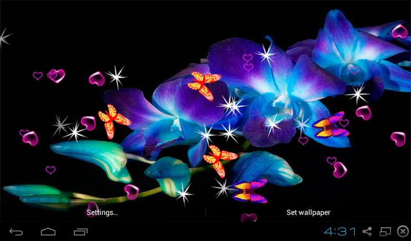 Butterflies 3d Live Wallpaper Apk Free 3d Orchid Flower Live Wallpaper Apk Download For