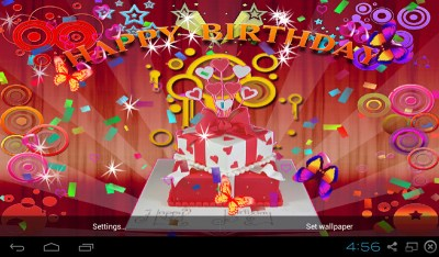 Free 3D Happy Birthday Live Wallpaper APK Download For Android   GetJar