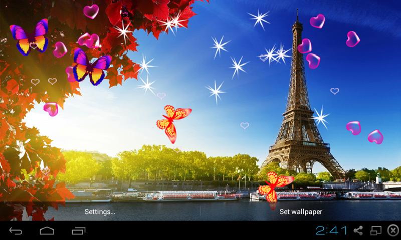 Wallpaper Paris Pink Cute Free 3d Eiffel Tower Live Wallpaper Apk Download For