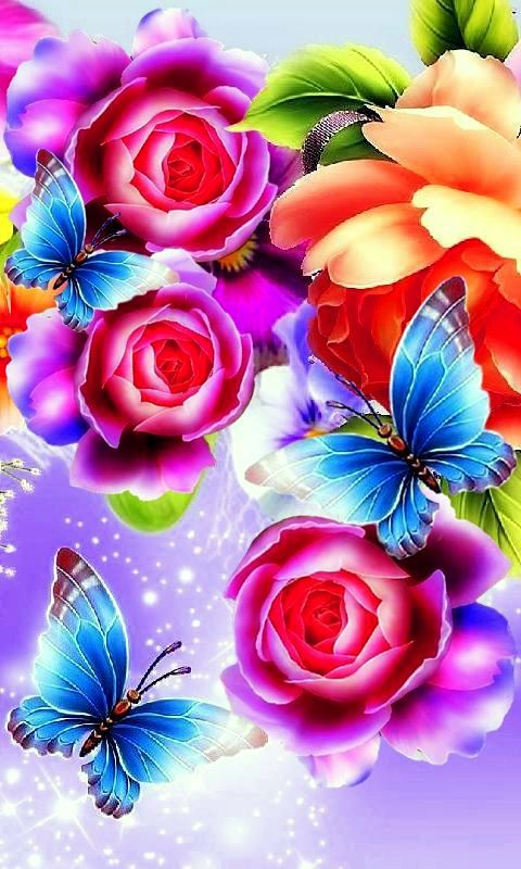 Falling Down Flowers Wallpaper Free Flowers Live Wallpaper Hd Apk Download For Android