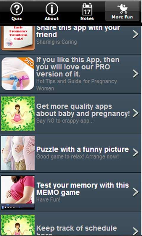 Free Pregnancy Quiz - Early Pregnancy Symptoms Trivia APK Download