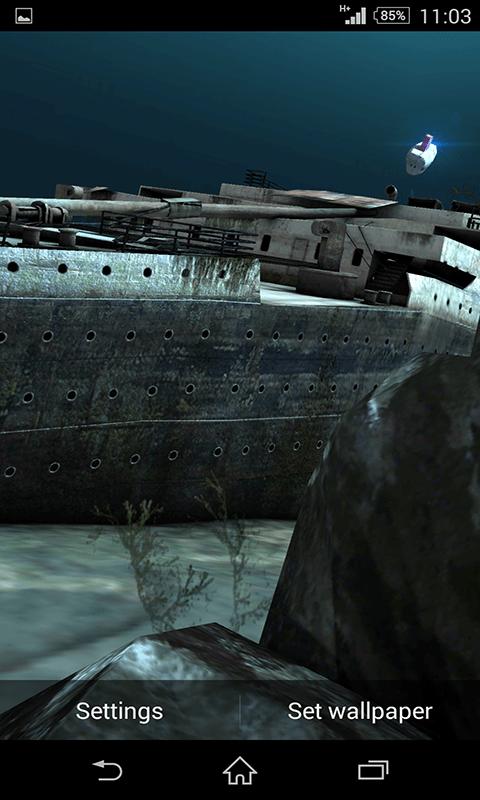 Titanic 3d Pro Live Wallpaper Free Download Free Titanic Under Water 3d Live Wallpaper Apk Download