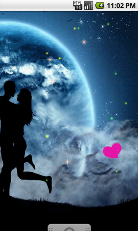 Stylish Wallpaper Heart Free Romantic Couple Moon Light Live Wallpaper Apk