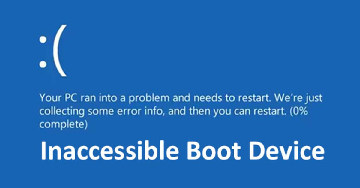 Losung Windows 10 Inaccessible Boot Device