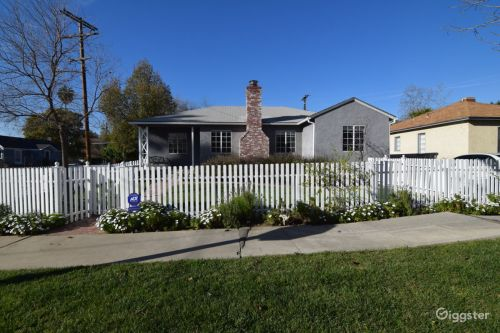 Medium Of White Picket Fence House