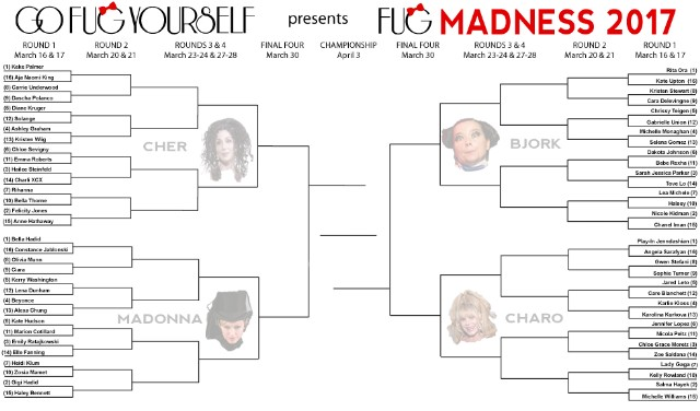 Your Fug Madness 2017 Printable Bracket - Go Fug Yourself