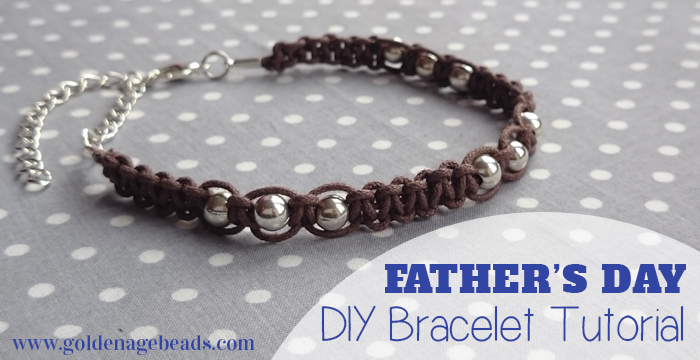 Mens Leather Cord Macrame Bracelet Fathers Day