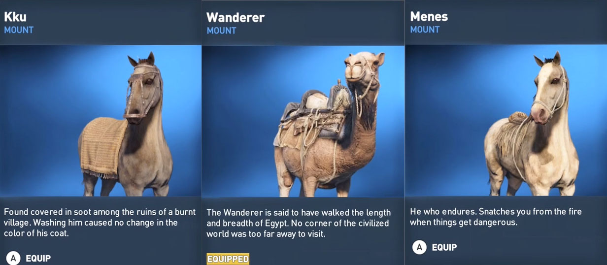 Mounts Camel Horse Unicorn In Assassin39s Creed Origins