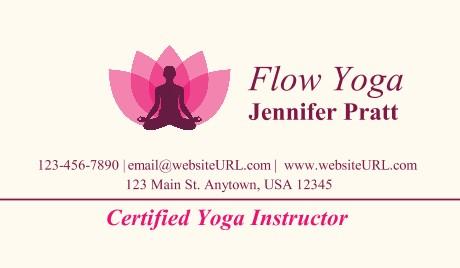 Yoga Business Cards at GotPrint