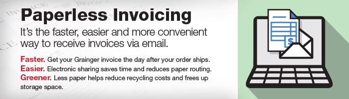 Paperless Invoicing - Grainger Industrial Supply