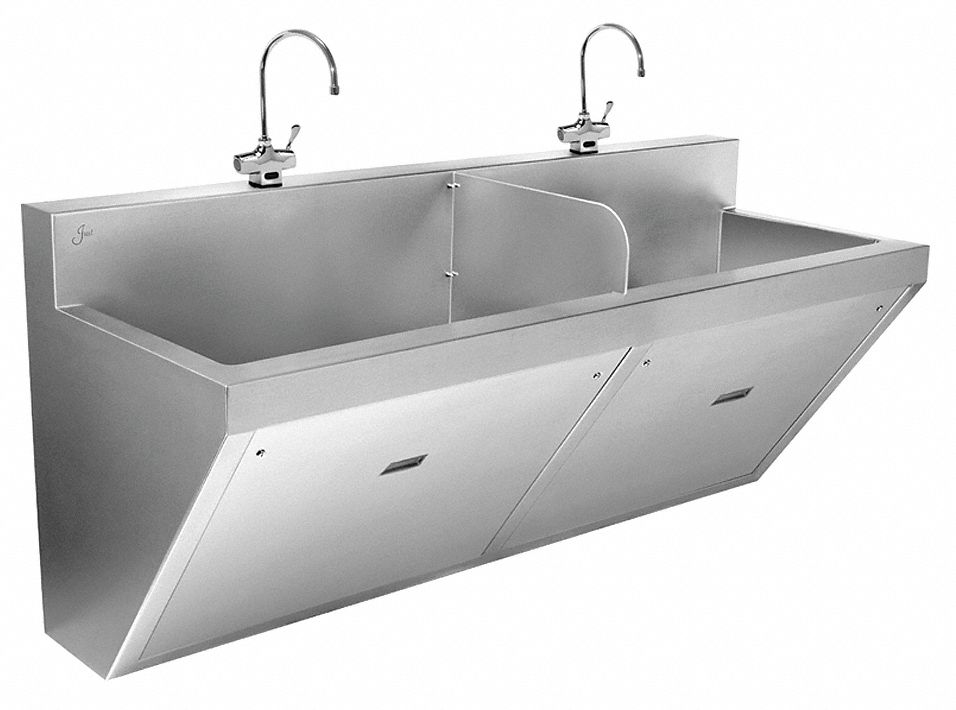 Just Manufacturing Stainless Steel Scrub Sink With Faucet