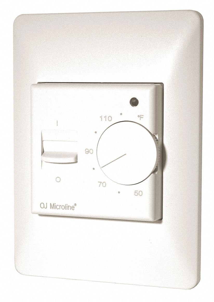 Heating Thermostat Manual Floor Heating Thermostat 50 To 122f 120vac