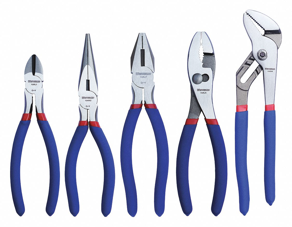 Pliers Set Alloy Steel Plier Sets Esd Safe No Number Of Pieces 5 Dipped Handle Spring Return No