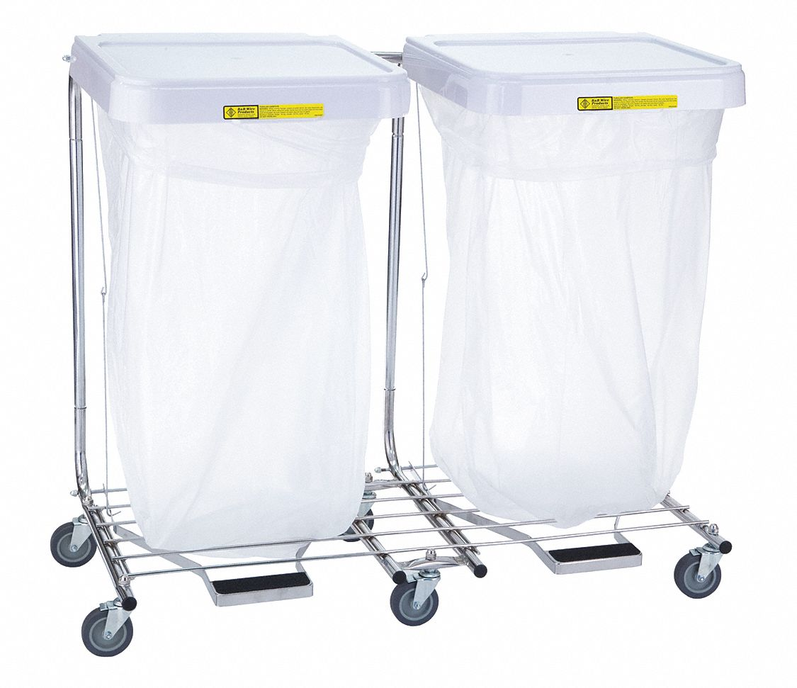 4 Compartment Laundry Basket R Andb Wire Products Inc 2 Compartment Sorting Hamper Cart