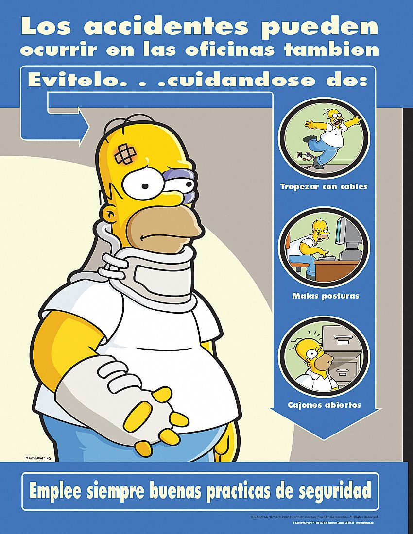 Poster In Spanish Simpsons Safety Poster Spanish 11