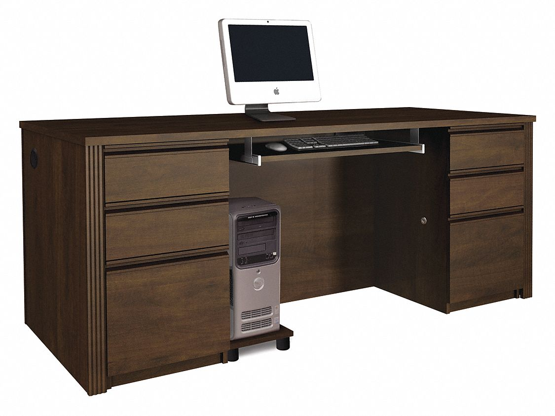 Executive Desk Canada Bestar Executive Desk Chocolate 29 13 16 In D 38xp74