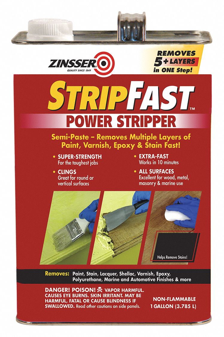 Paint Stripper Zinsser Paint Remover And Stripper 1 Gal Brush Voc Content