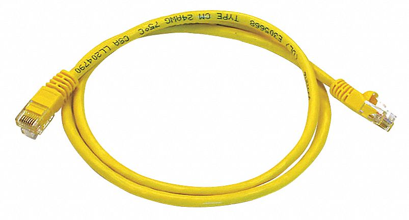 Cable Ethernet 3 Ft 5e Voice And Data Patch Cord Yellow
