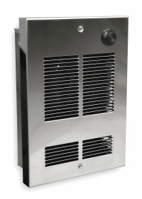 DAYTON Electric Wall Heater, Shallow Recessed or Surface ...