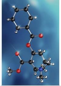 Poster Print Wall Art entitled Cocaine drug molecule   eBay