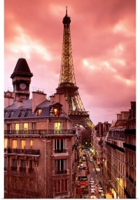 Poster Print Wall Art entitled Eiffel Tower Paris France