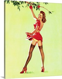 Apple Picking Pin Up Girl Wall Art, Canvas Prints, Framed ...