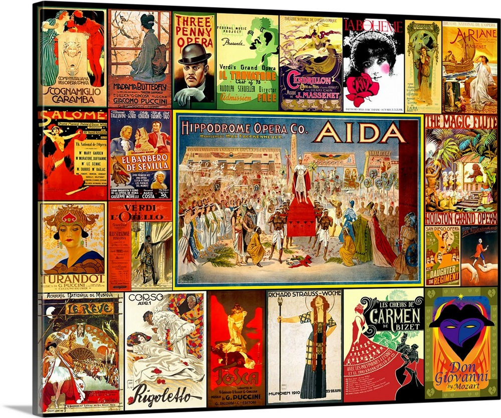 Wall Art Prints And Posters Vintage Opera Posters