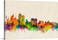 Sydney Australia Skyline Wall Art, Canvas Prints, Framed ...