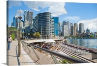 Sydney city centre and Circular Quay at Sydney Harbour ...