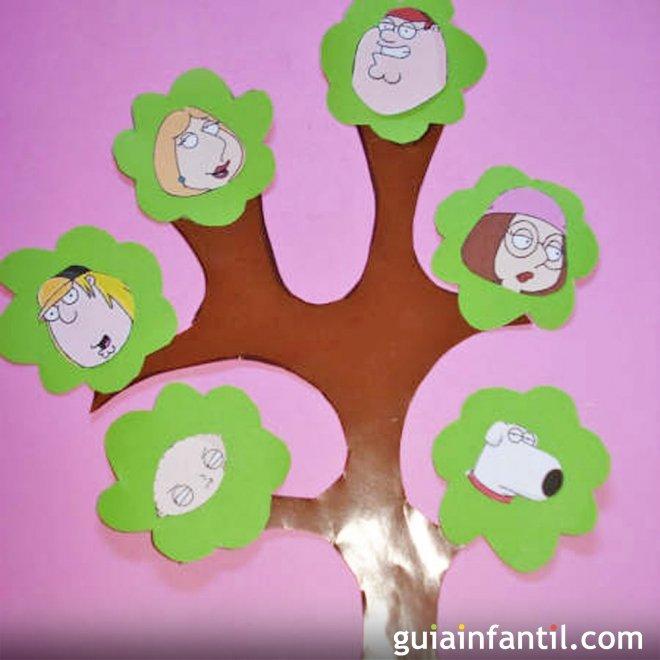 Árbol genealógico de tu familia Manualidades para niños